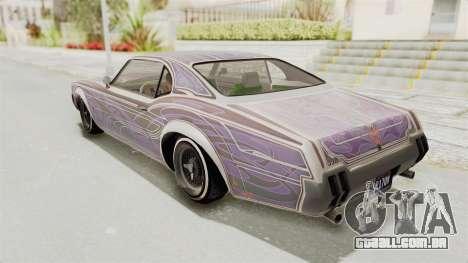 GTA 5 Declasse Sabre GT2 IVF para GTA San Andreas