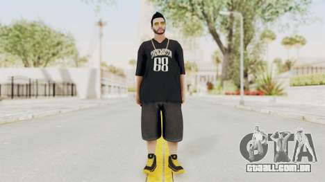 GTA 5 Online Male Skin 2 para GTA San Andreas segunda tela