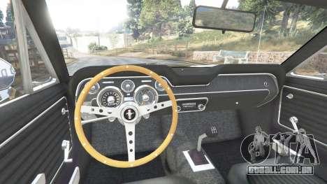 GTA 5 Ford Mustang 1968 v1.1 traseira direita vista lateral