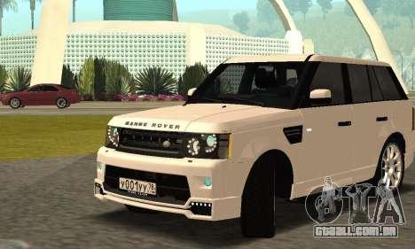 Range Rover Sport Tuning para vista lateral GTA San Andreas