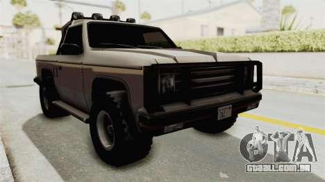 Rancher Style Bronco para GTA San Andreas vista direita