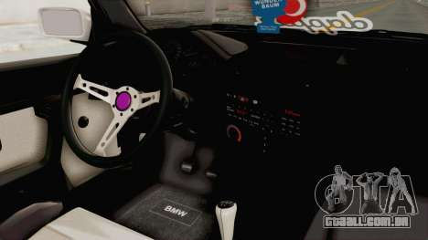 BMW 316i E30 para GTA San Andreas vista interior