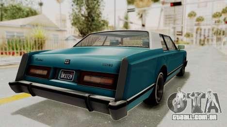 GTA 5 Dundreary Virgo Classic Custom v3 IVF para GTA San Andreas traseira esquerda vista