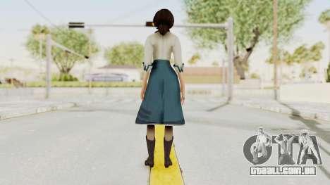 Bioshock Infinite Elizabeth Student para GTA San Andreas terceira tela