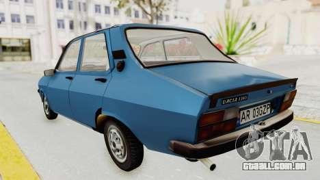Dacia 1310 MLS 1988 Stock para GTA San Andreas traseira esquerda vista