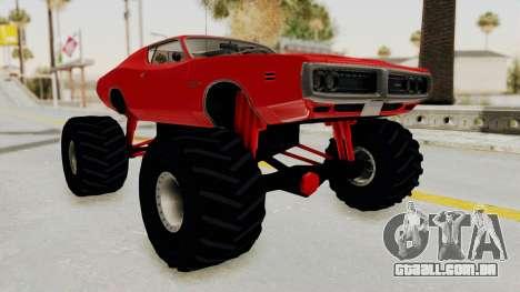 Dodge Charger 1971 Monster Truck para GTA San Andreas vista direita