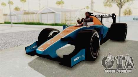 Rio Haryanto 88 F1 Manor Racing para GTA San Andreas