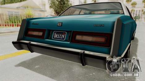 GTA 5 Dundreary Virgo Classic Custom v3 IVF para GTA San Andreas vista inferior