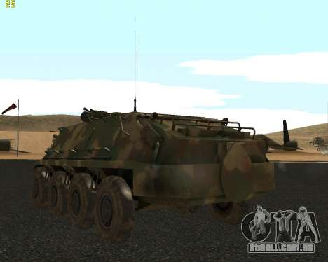 BTR 60 PA para GTA San Andreas vista direita
