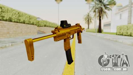 MP7A1 Gold para GTA San Andreas terceira tela