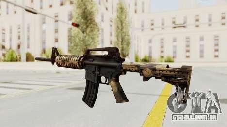 HD M4 v3 para GTA San Andreas terceira tela