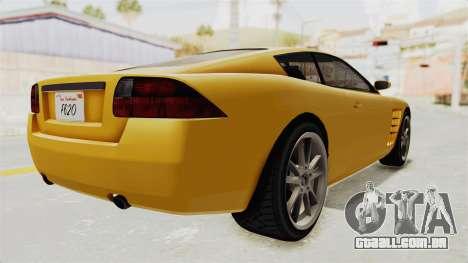 GTA 5 Ocelot F620 SA Lights para GTA San Andreas esquerda vista