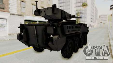 M1128 Mobile Gun System IVF para GTA San Andreas vista direita