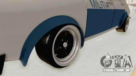 Dacia 1300 Stance Police para GTA San Andreas vista traseira