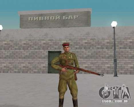 Pak combatentes do exército vermelho para GTA San Andreas segunda tela
