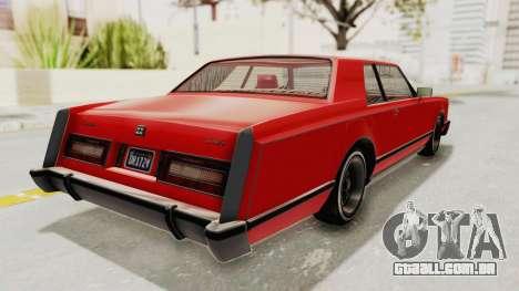 GTA 5 Dundreary Virgo Classic Custom v2 para GTA San Andreas traseira esquerda vista