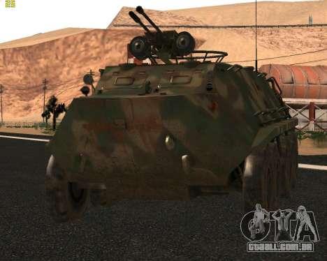 BTR 60 PA para GTA San Andreas esquerda vista