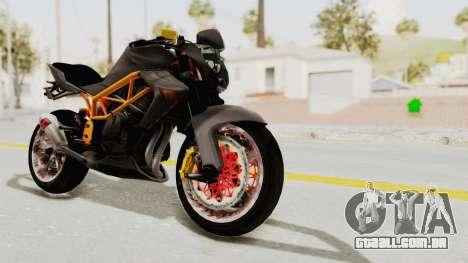 Kawasaki ER 6N Superbike para GTA San Andreas vista direita