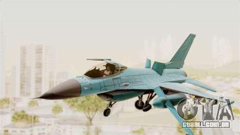 F-16 Fighting Falcon Civilian para GTA San Andreas traseira esquerda vista