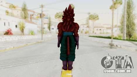 Dragon Ball Xenoverse Vegito SSJ4 para GTA San Andreas terceira tela