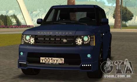 Range Rover Sport Tuning para GTA San Andreas traseira esquerda vista