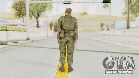 MGSV Ground Zeroes US Soldier Armed v2 para GTA San Andreas terceira tela