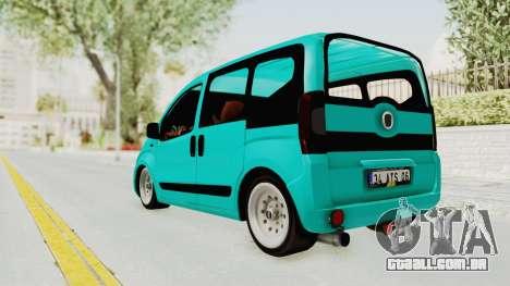 Fiat Fiorino Hellaflush v1 para GTA San Andreas esquerda vista