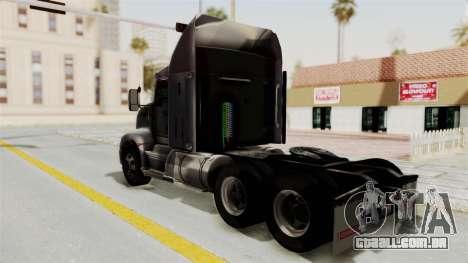 Kenworth T660 Sleeper para GTA San Andreas esquerda vista