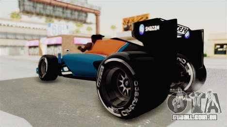 Rio Haryanto 88 F1 Manor Racing para GTA San Andreas vista direita