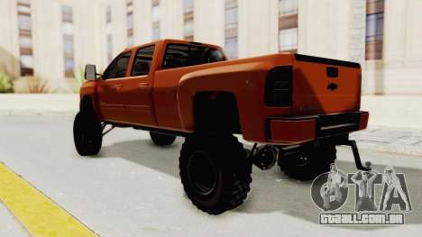 Chevrolet Silverado Long Bed para GTA San Andreas esquerda vista