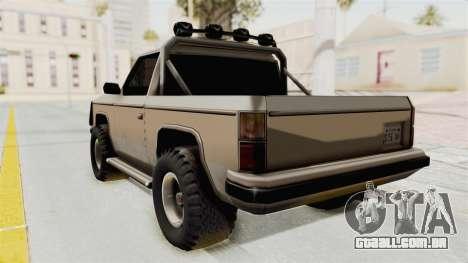 Rancher Style Bronco para GTA San Andreas esquerda vista