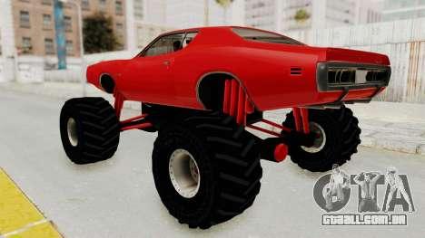 Dodge Charger 1971 Monster Truck para GTA San Andreas esquerda vista