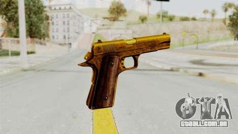 M1911 Gold para GTA San Andreas terceira tela