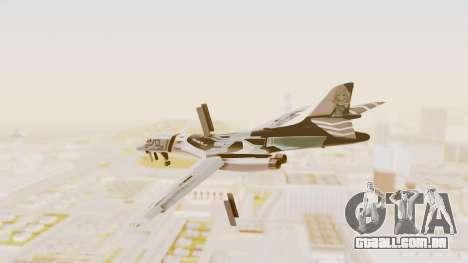Rockwell B-1B Lancer Tina Sprout Itasha para GTA San Andreas esquerda vista