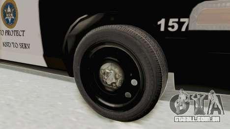 Ford Crown Victoria SFPD para GTA San Andreas vista traseira