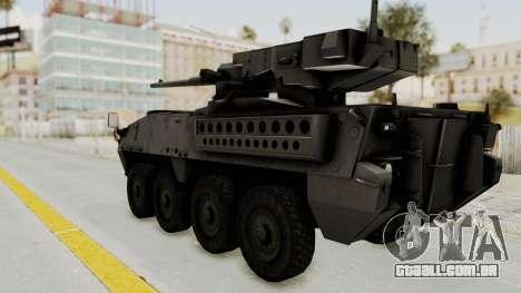 M1128 Mobile Gun System IVF para GTA San Andreas esquerda vista
