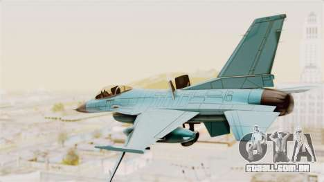 F-16 Fighting Falcon Civilian para GTA San Andreas vista direita