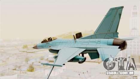 F-16 Fighting Falcon Civilian para GTA San Andreas vista direita