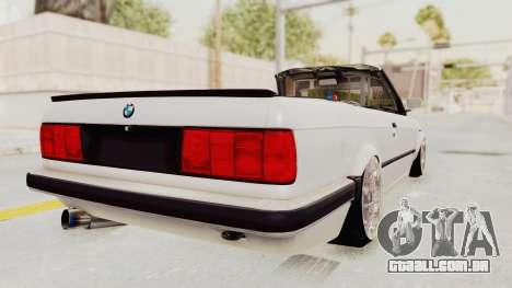 BMW 316i E30 para GTA San Andreas traseira esquerda vista