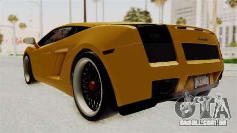 Lamborghini Gallardo 2005 para GTA San Andreas esquerda vista