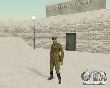 Pak combatentes do exército vermelho para GTA San Andreas terceira tela