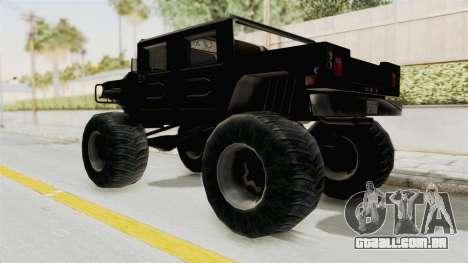 Hummer H1 Monster Truck TT para GTA San Andreas traseira esquerda vista