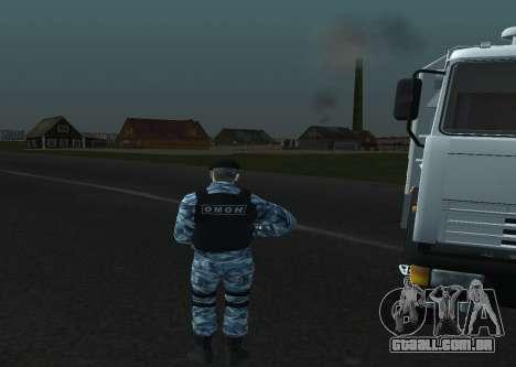Um Motim Policial para GTA San Andreas por diante tela