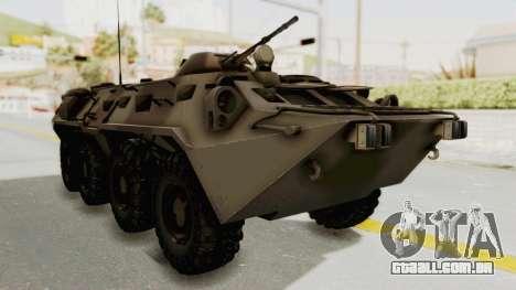 BTR-80 Desert Turkey para GTA San Andreas vista direita
