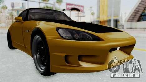 Honda S2000 S2K-AP1 para GTA San Andreas vista direita