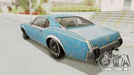 GTA 5 Declasse Sabre GT2 IVF para as rodas de GTA San Andreas