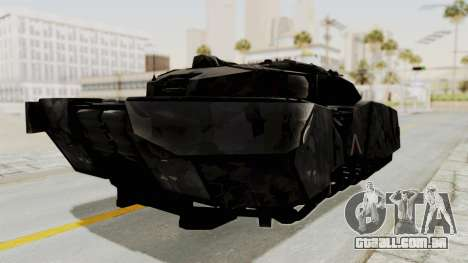 T-470 Hover Tank para GTA San Andreas vista direita