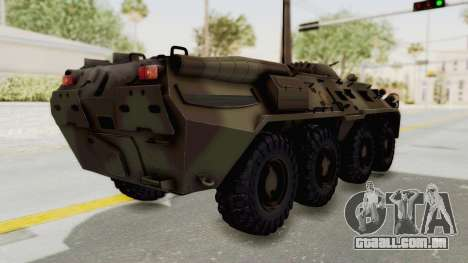 BTR-80 Desert Turkey para GTA San Andreas traseira esquerda vista