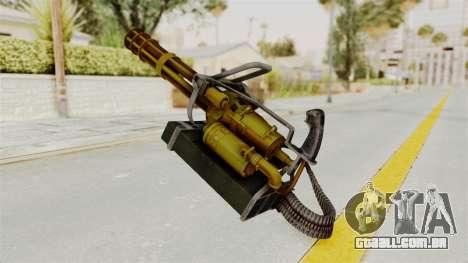 Minigun Gold para GTA San Andreas segunda tela