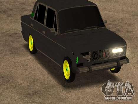 VAZ 2106 Shah para GTA San Andreas traseira esquerda vista